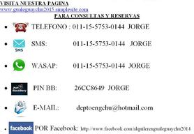 Alquiler temporario de departamento en Gualeguaychú